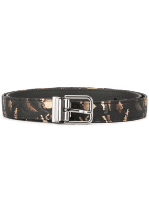 Dolce & Gabbana embroidered camouflage belt - Black