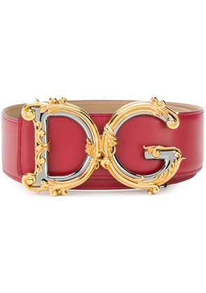 Dolce & Gabbana embellished DG buckle belt - Red