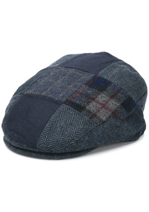 Barbour checked flat cap - Blue