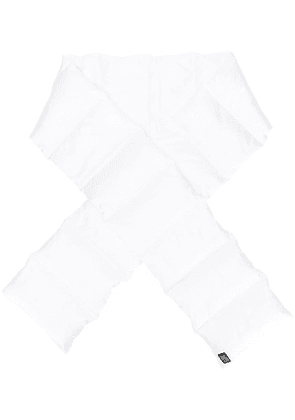 Bacon puffer scarf - White