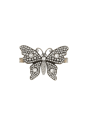 Gucci crystal-embellished butterfly palm bracelet - Metallic