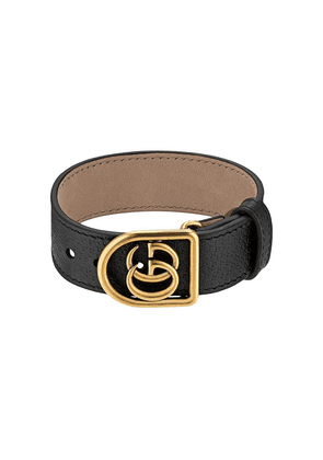 Gucci Bracelet in leather with Double G - Black