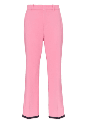 Gucci cropped bootcut trousers - Pink