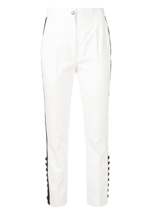Dolce & Gabbana contrast stripe trousers - White