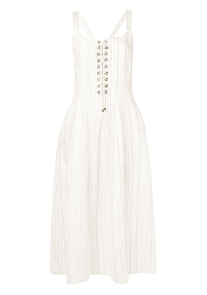 Erika Cavallini midi summer dress - Neutrals