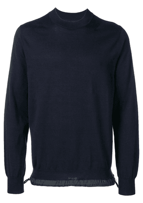 Sacai long-sleeve fitted sweater - Blue