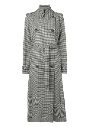 Gabriela Hearst Lorna houndstooth trench coat - Black