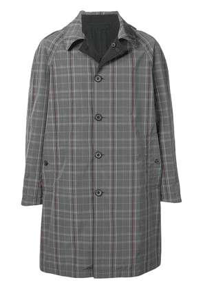 Lanvin checked single-breasted coat - Grey