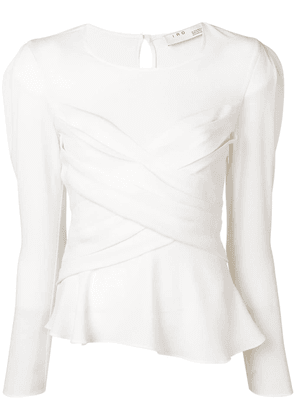Iro ruched wrap-front top - White