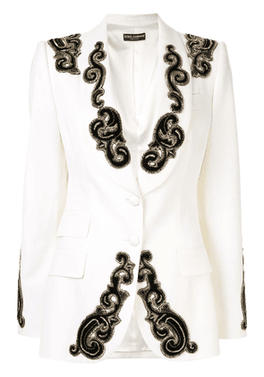 Dolce & Gabbana beaded detail blazer - White