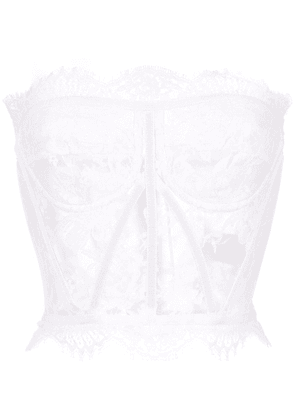Dolce & Gabbana strapless lace top - White
