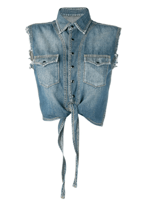 Saint Laurent sleeveless denim shirt - Blue