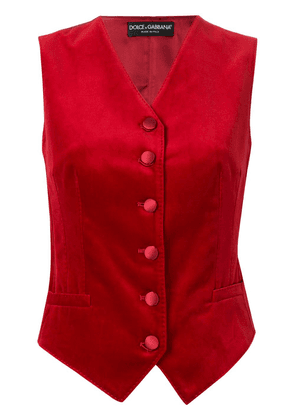 Dolce & Gabbana fitted waistcoat - Red