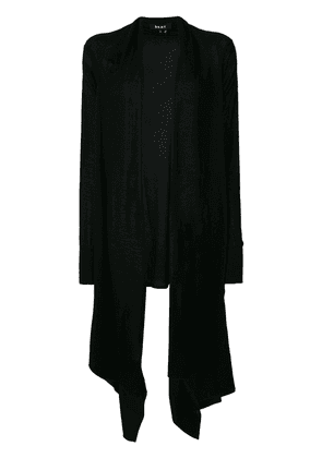 DKNY long fitted draped cardigan - Black