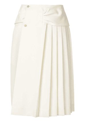 Carven pleated side skirt - White
