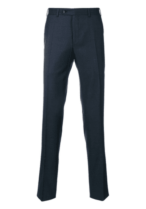 Canali tailored fitted trousers - Blue