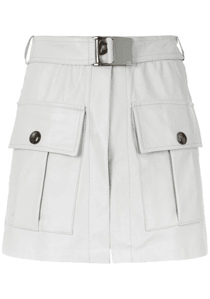 Andrea Bogosian leather skirt with pockets - Grey