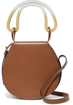 Marni - Melville Acrylic-trimmed Leather Shoulder Bag - Tan