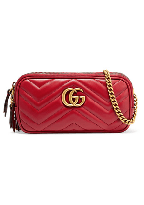 d143954e2db Gucci - Gg Marmont Mini Quilted Leather Shoulder Bag - Red