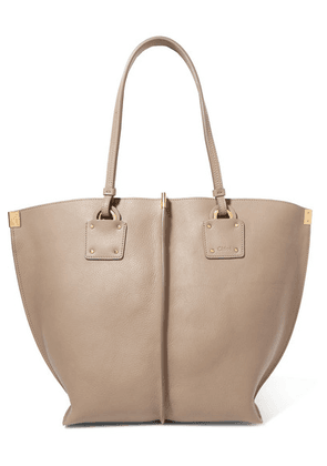 Chloé - Vick Textured-leather Tote - Gray