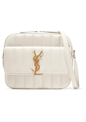 Saint Laurent - Vicky Quilted Leather Camera Bag - Cream