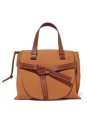 Loewe - Gate Small Textured-leather Tote - Tan