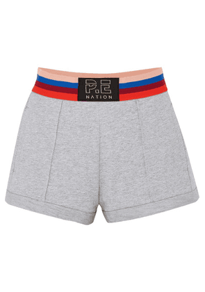 P.E NATION - Starting Whistle Cotton-jersey Shorts - Gray