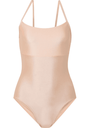 Ballet Beautiful - Open-back Stretch-jersey Leotard - Baby pink