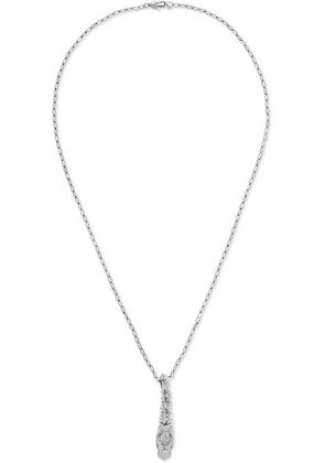 Gucci - Dionysus 18-karat White Gold Diamond Necklace - one size