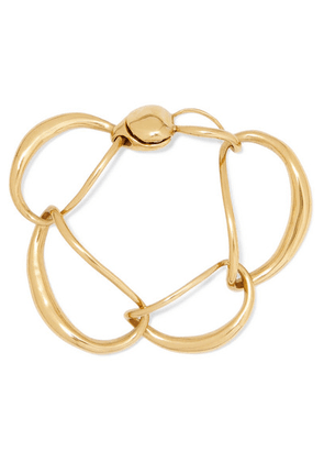 Dinosaur Designs - Louise Olsen Liquid Chain Gold-plated Bracelet - one size