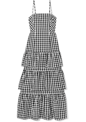 J.Crew - Dabble Tiered Gingham Cotton-poplin Midi Dress - Black