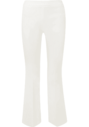 Giambattista Valli - Cropped Crepe Flared Pants - Ivory