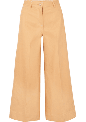 Elizabeth and James - Ace High-rise Wide-leg Jeans - Camel