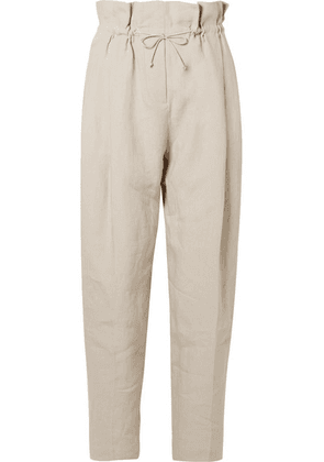 Acne Studios - Paoli Pleated Linen Tapered Pants - Beige