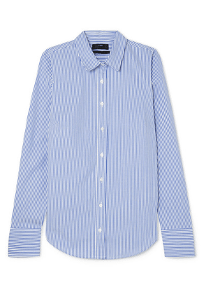 J.Crew - Perfect Striped Cotton-blend Poplin Shirt - Blue
