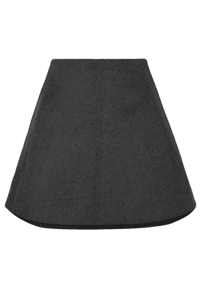 Carven - Wool And Cashmere-blend Mini Skirt - Gray
