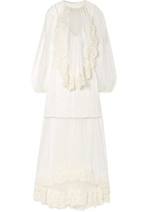 Stella McCartney - Lace-trimmed Tulle Gown - Ivory