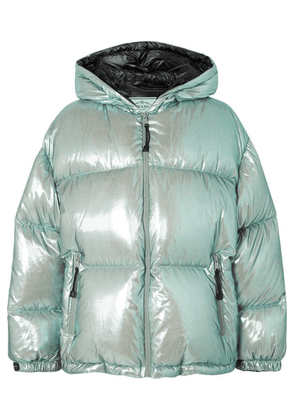Prada - Oversized Quilted Metallic Shell Down Jacket - Mint