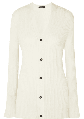 Ann Demeulemeester - Ribbed-knit Cardigan - Cream