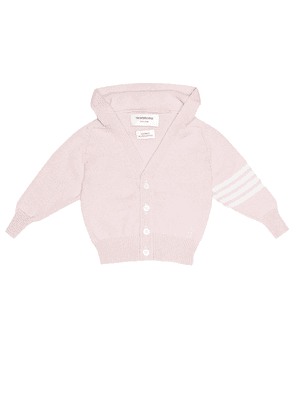 Baby Hooded cashmere cardigan