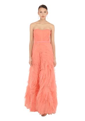 Long Textured Tulle Dress