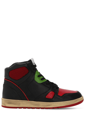 Leather &  Mesh High Top Sneakers