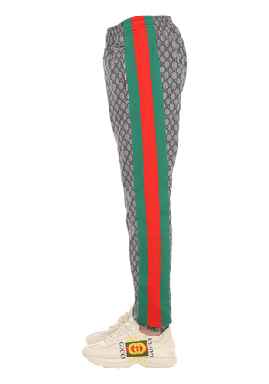 Gg Supreme Logo Tech Pants W/web Details