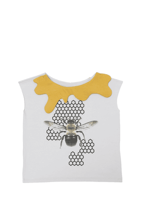 Bee Printed Cotton Jersey T-shirt