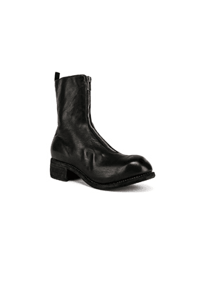Guidi Full Grain Horse Front Zip Boot in Black