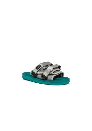 JOHN ELLIOTT x Suicoke Sandal in Green,Gray