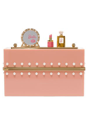 Charlotte Olympia Woman Embellished Perspex Clutch Blush Size -
