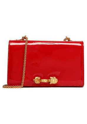 Valentino Garavani Woman Embellished Patent-leather Shoulder Bag Red Size -