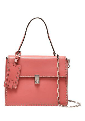 Valentino Garavani Woman Rockstud Leather Shoulder Bag Antique Rose Size -
