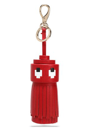 Anya Hindmarch Woman Ghost Printed Leather Tassel Keychain Red Size -